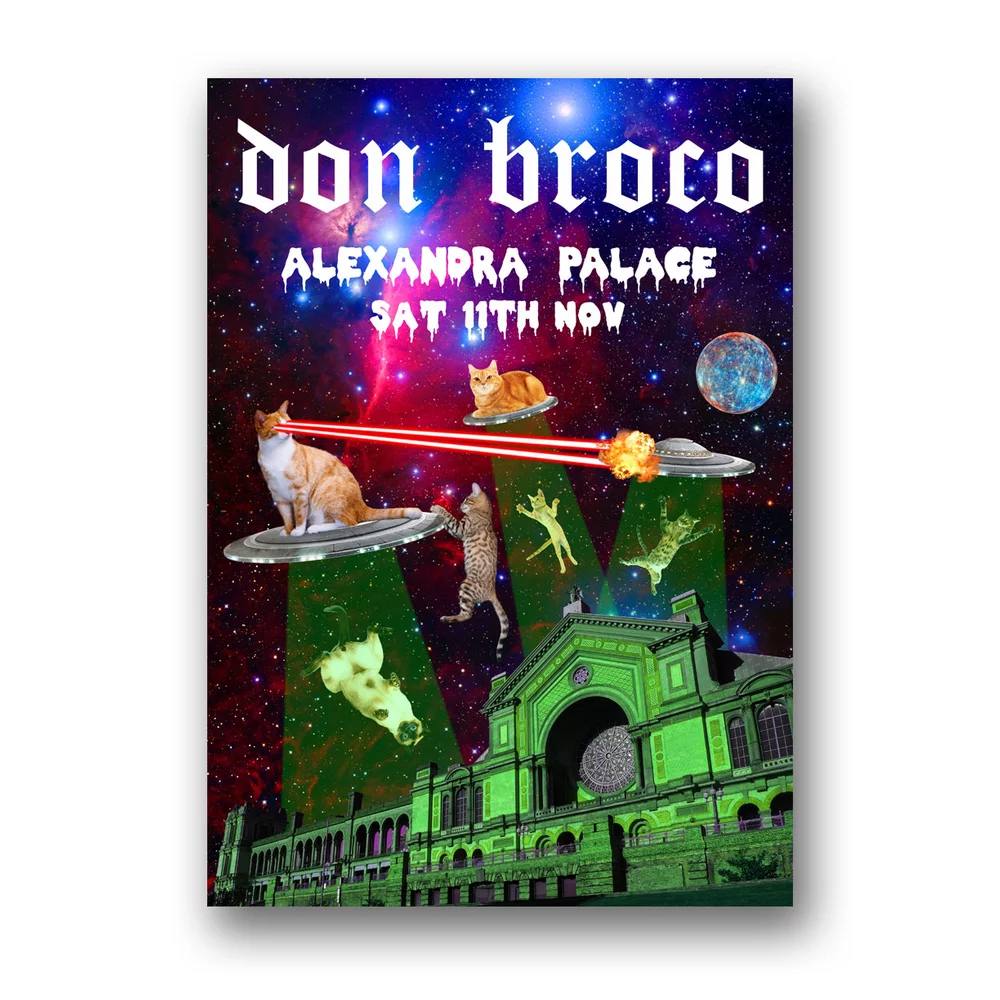 Buy Online Don Broco - Alexandra Palace Cats In Space Poster