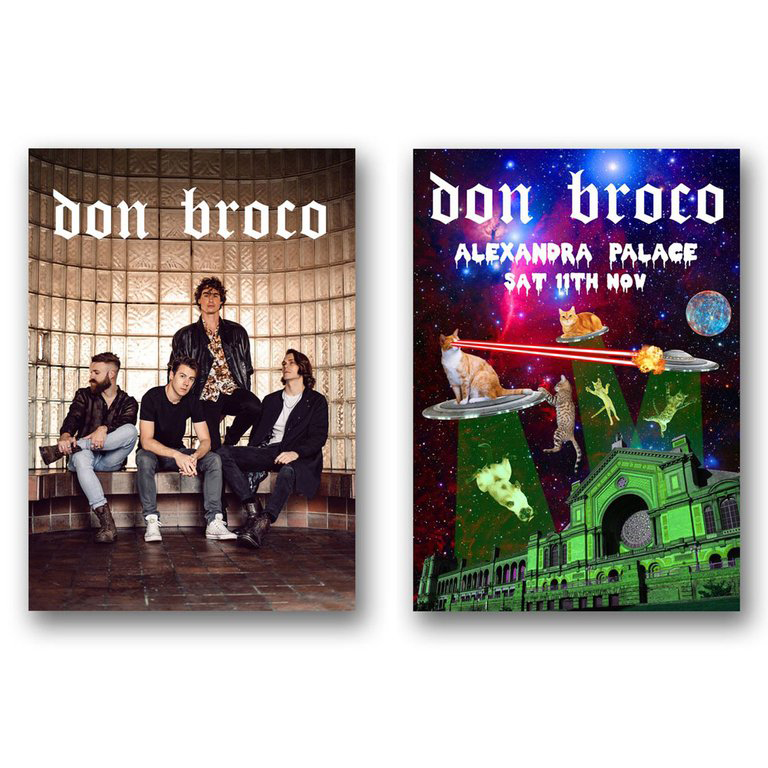 Buy Online Don Broco - Don Broco Poster + Cats In Space Poster Bundle
