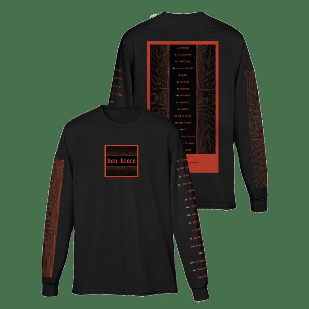 Buy Online Don Broco - Tracklist Long Sleeve T-Shirt