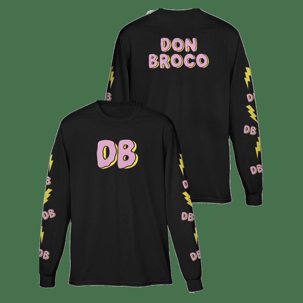 Buy Online Don Broco - Doughnut Long Sleeve T-Shirt