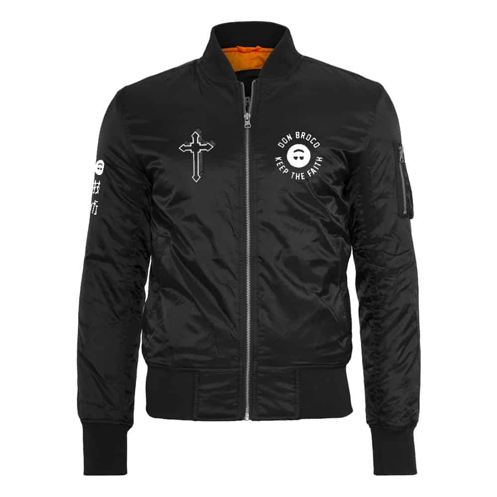 Buy Online Don Broco - Keep The Faith Bomber Jacket