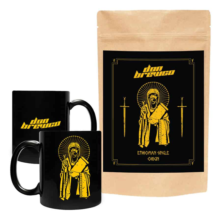 Buy Online Don Broco - Don Brewco Black Mug + Ethiopian Single Origin Coffee