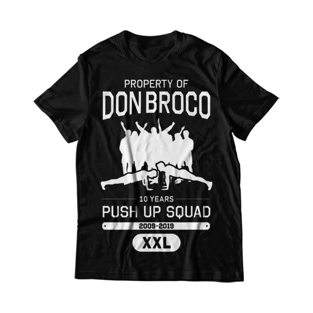 Buy Online Don Broco - 10 Year Push Up Squad T-Shirt