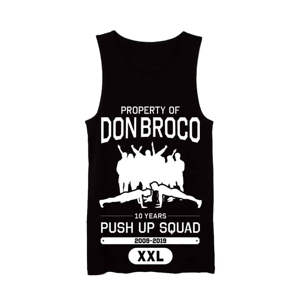 Buy Online Don Broco - 10 Year Push Up Squad Vest