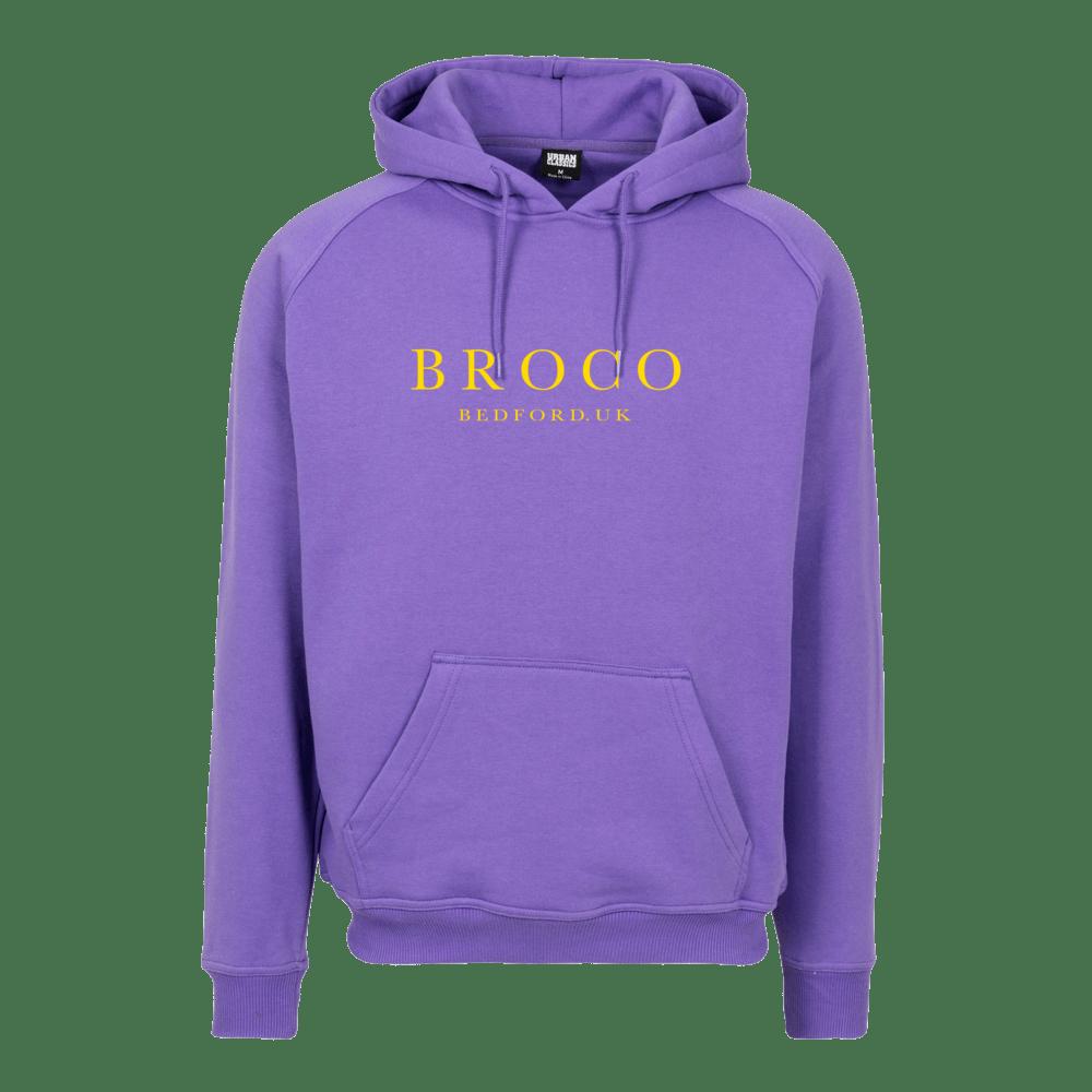 Buy Online Don Broco - BROCO Embroidered Hoodie (Purple)