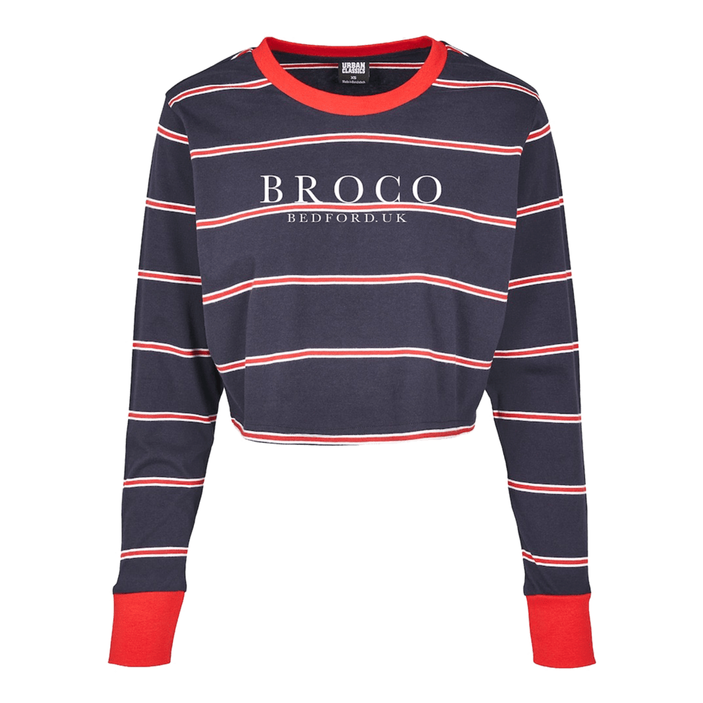 Buy Online Don Broco - BROCO Embroidered Long Sleeve Crop T-Shirt
