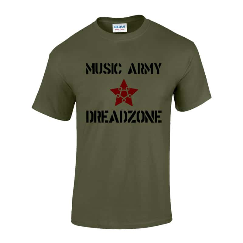 Dreadzone - Music Army T-Shirt - Mens   Ladies - TM Stores 4a3c7e524500