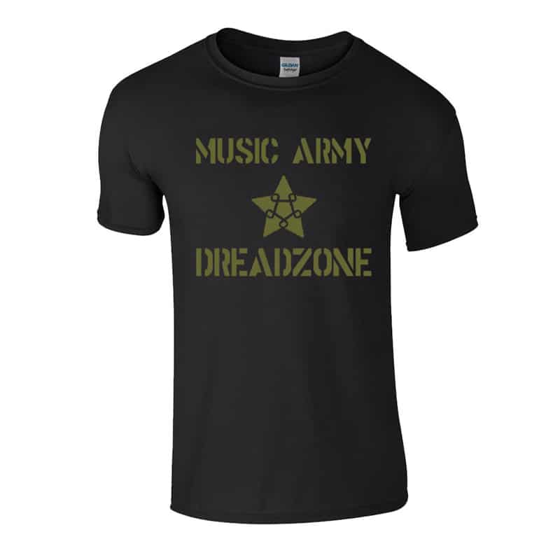 Buy Online Dreadzone - Music Army T-Shirt (Black)