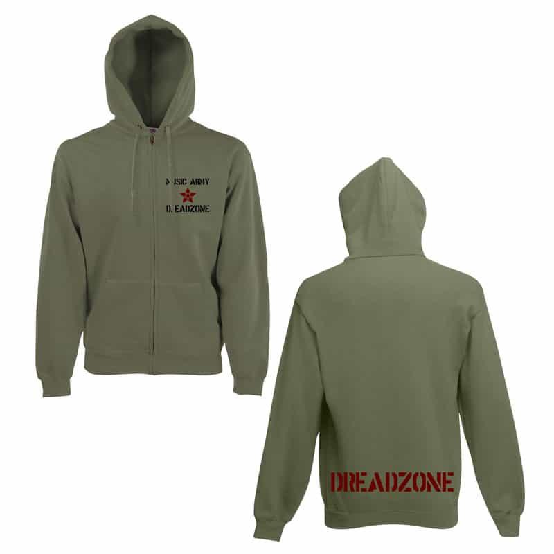 Buy Online Dreadzone - Music Army Hoody (Green)