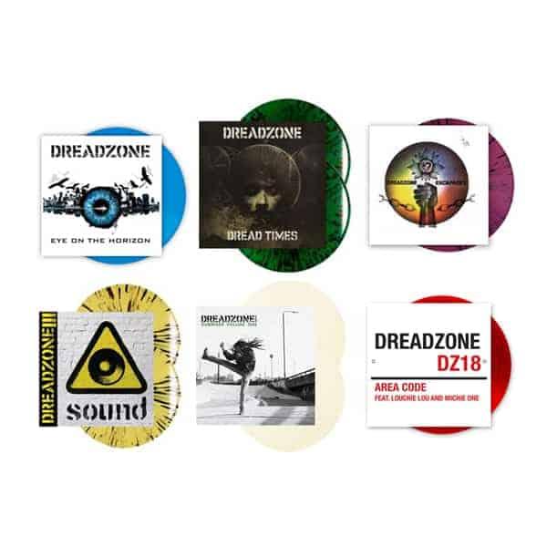 Buy Online Dreadzone - Dread Times + Escapades + Sound + Eye On The Horizon + Area Code + Dreadzone Presents Coloured Vinyl Bundle
