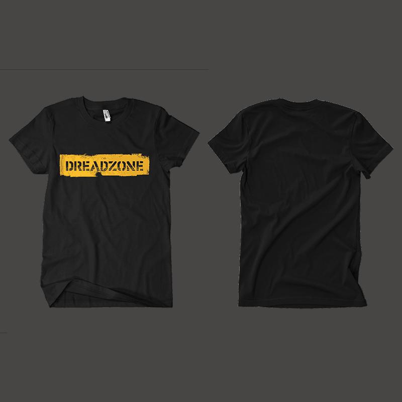 Buy Online Dreadzone - Black Logo Brush T-Shirt