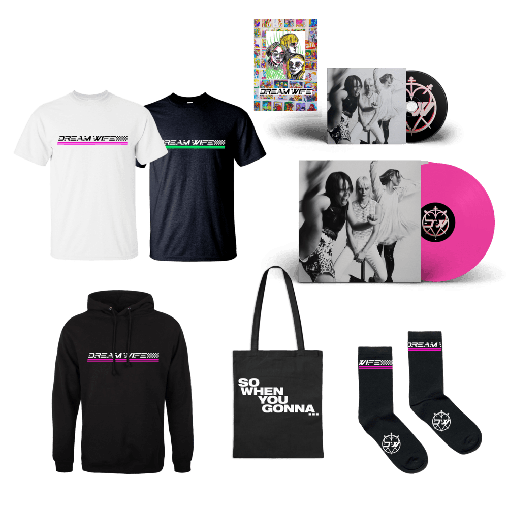 Buy Online Dream Wife - So When You Gonna... Vinyl + CD + T-Shirt + Socks + Hoodie + Fanzine (Signed)