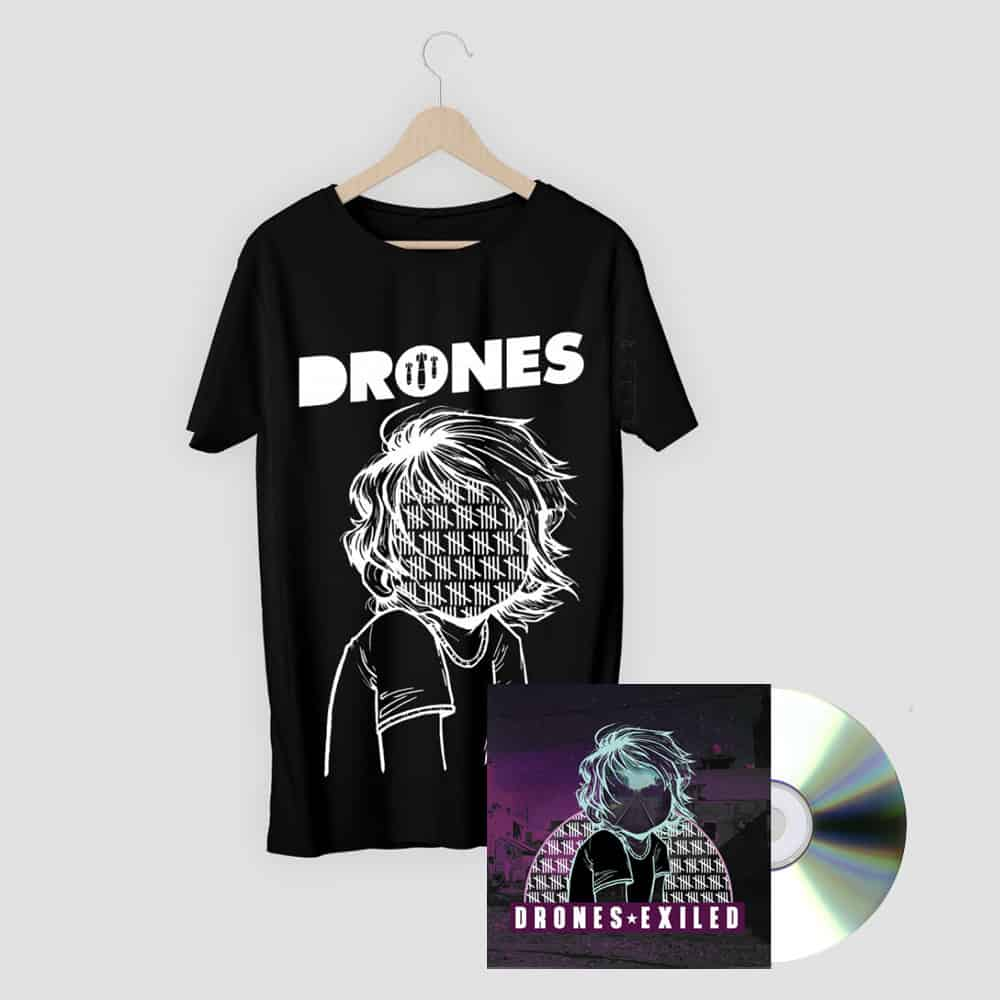 Buy Online Drones - Exiled CD + Tally T-Shirt