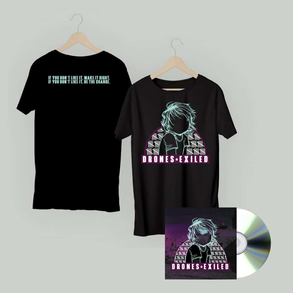 Buy Online Drones - Exiled CD + Album T-Shirt