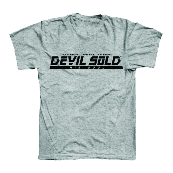 Buy Online Devil Sold His Soul - Metal Gear Grey T-Shirt