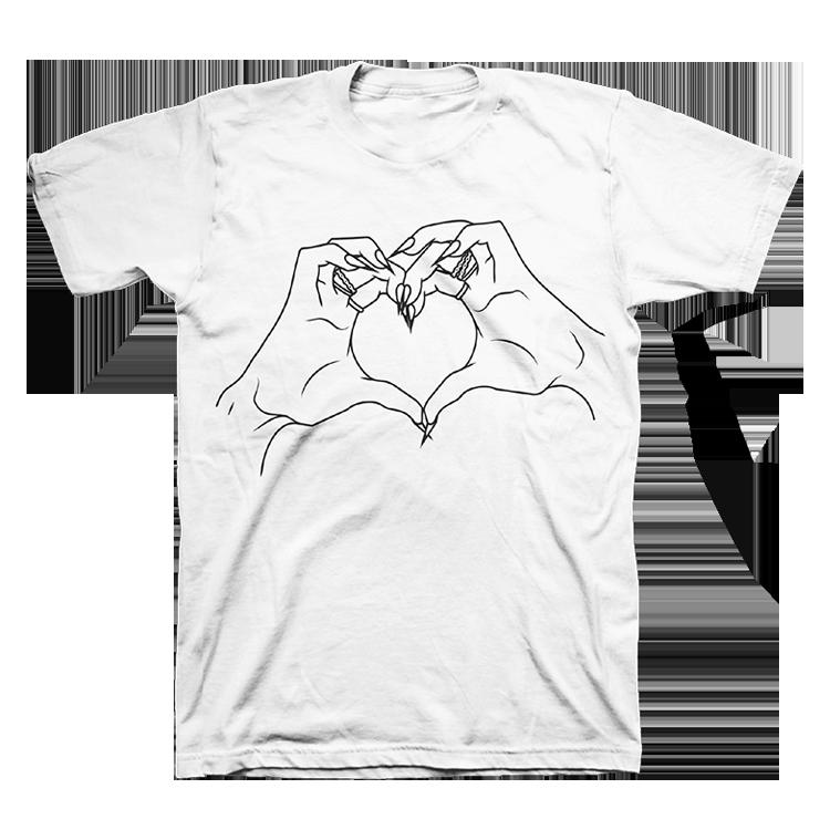 Buy Online Dua Lipa - Hand Heart T-Shirt