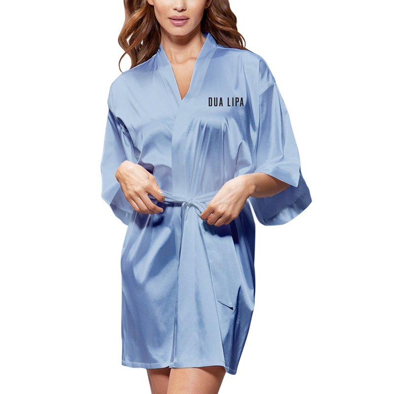 Buy Online Dua Lipa - New Rules Silk Robe (Blue)