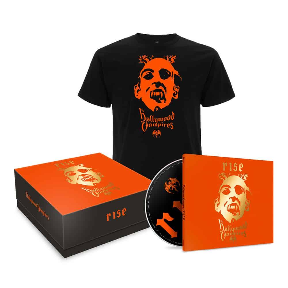 Buy Online Hollywood Vampires - Rise (Boxset) incl. 1CD Digipak + T-Shirt (Size L)