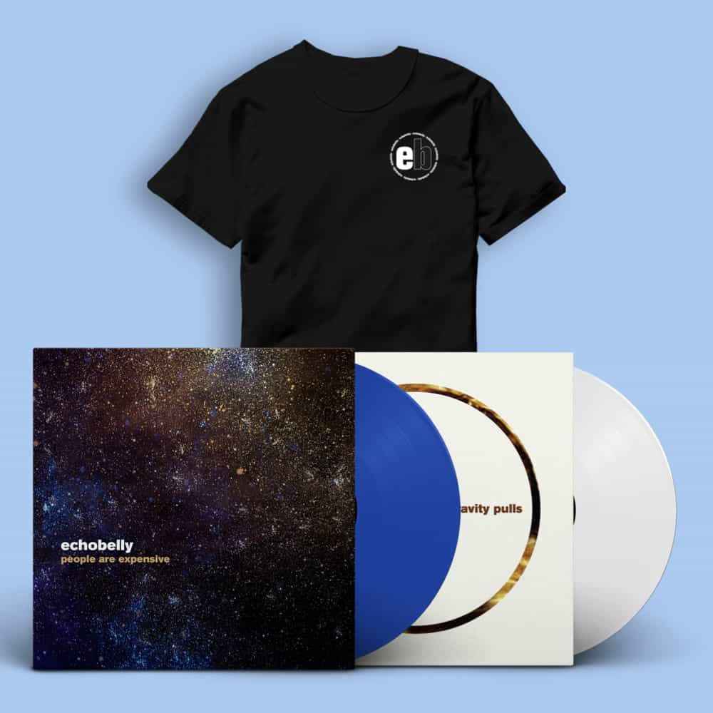 People Are Expensive & Gravity Pulls Signed Vinyl LPs + T-shirt