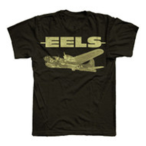 Buy Online Eels - Mens Black Plane T-Shirt