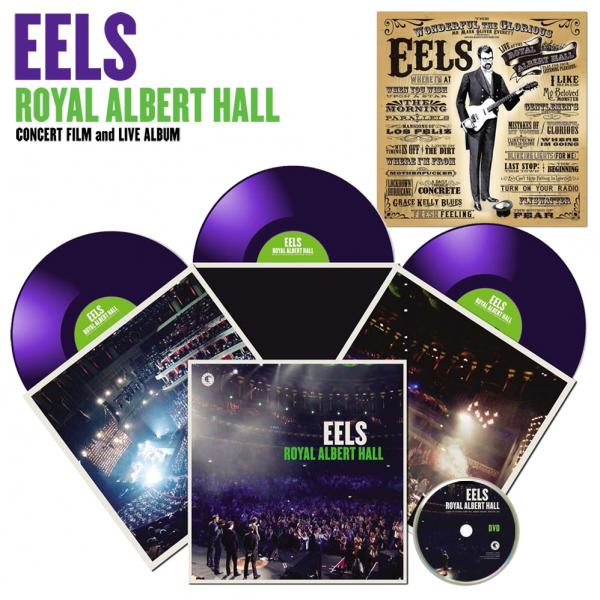 Buy Online Eels - Royal Albert Hall Clear Purple Triple Vinyl + DVD + Download