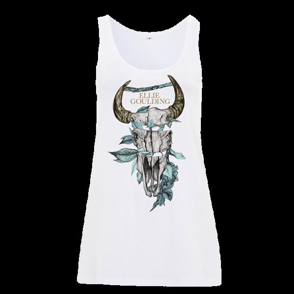 Buy Online Ellie Goulding - Skull Flower Ladies Tank