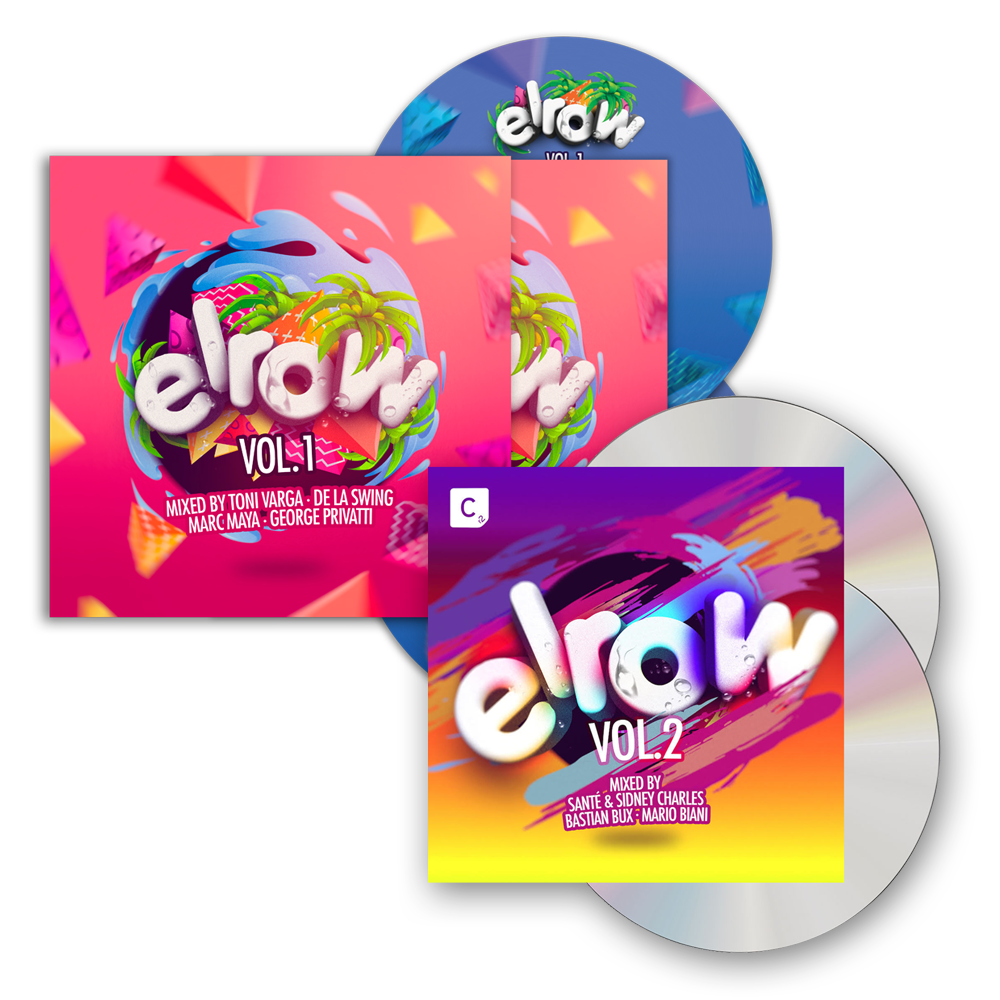 Buy Online Elrow - elrow Vol. 1 2CD Album + elrow Vol. 2 2CD Album