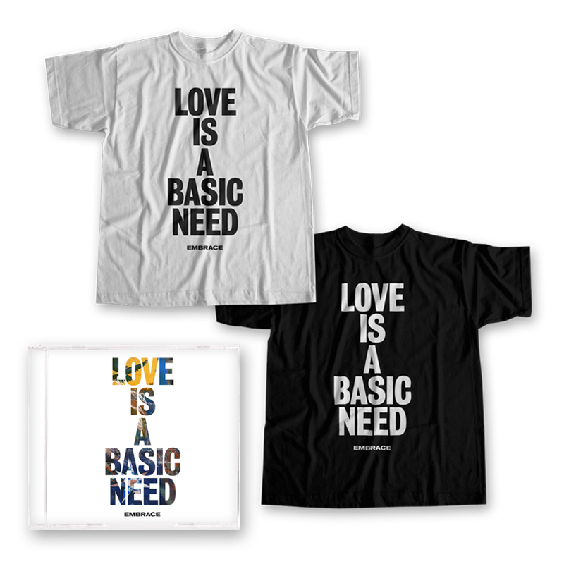 Buy Online Embrace - Love Is A Basic Need CD + T-Shirt