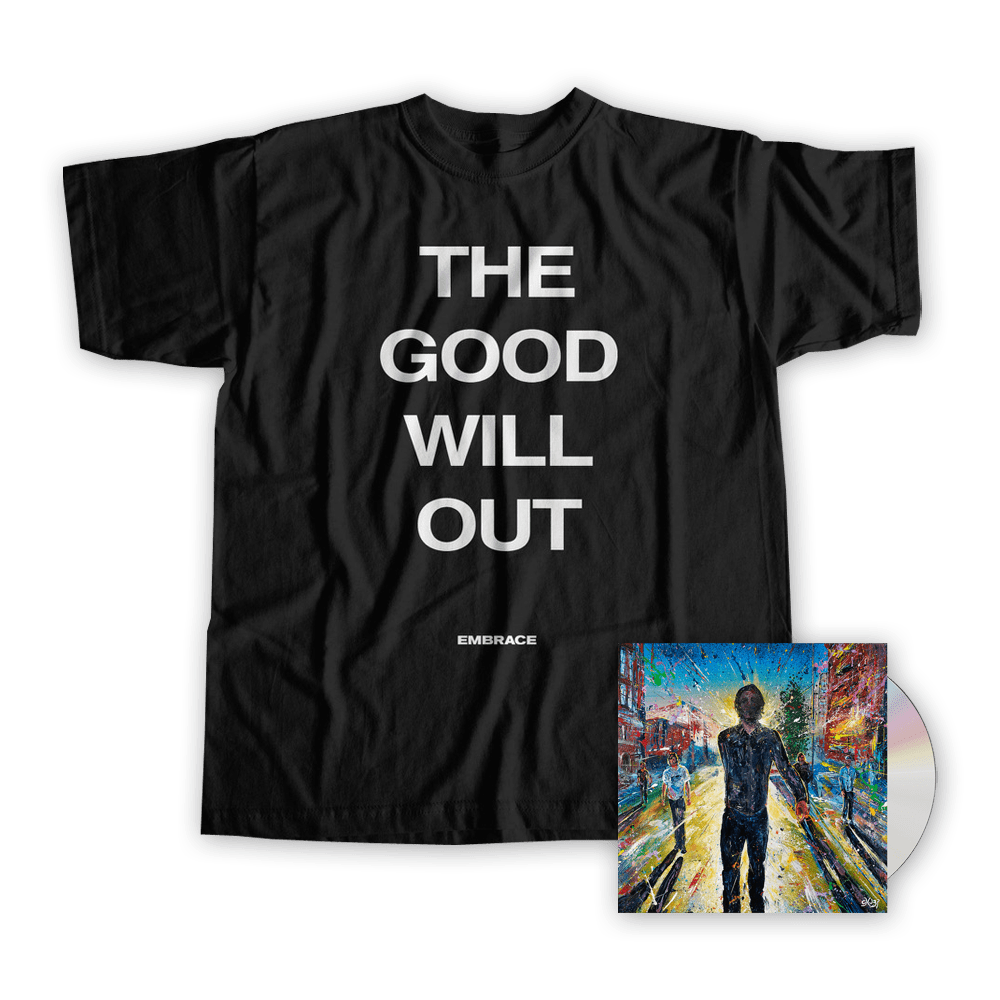 Buy Online Embrace - The Good Will Out Live - CD + T-Shirt