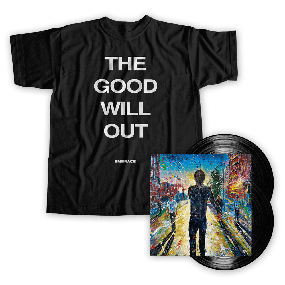 Buy Online Embrace - The Good Will Out Live - Signed Vinyl + T-Shirt