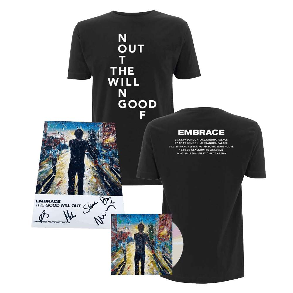 Buy Online Embrace - The Good Will Out / Out Of Nothing Event Shirt + Tour Programme + Live CD Album