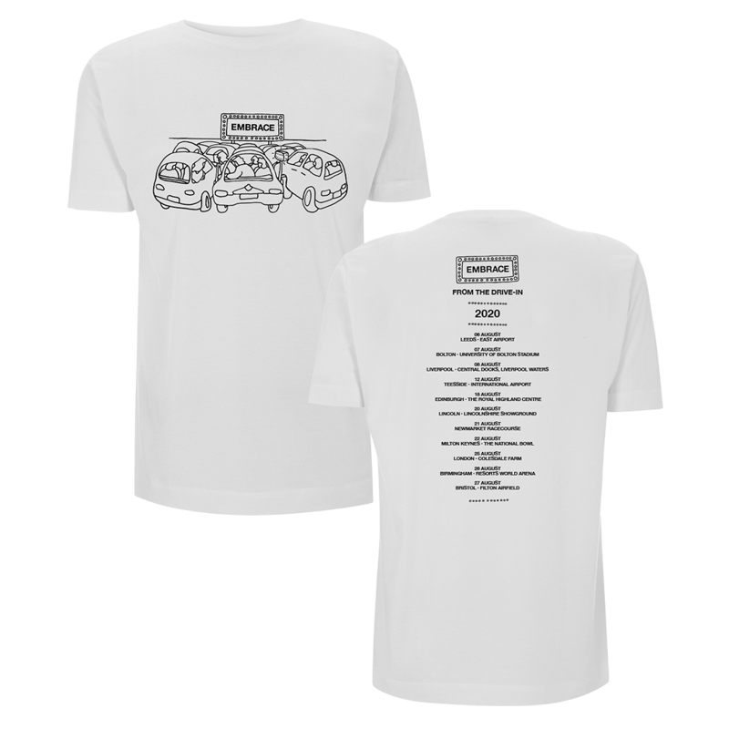Buy Online Embrace - From The Drive-In Tour T-Shirt (White)