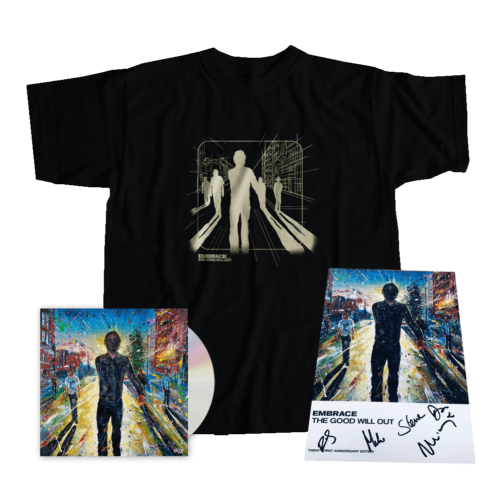 Buy Online Embrace - Halifax Piece Hall T-Shirt + Programme + The Good Will Out: Live CD Album