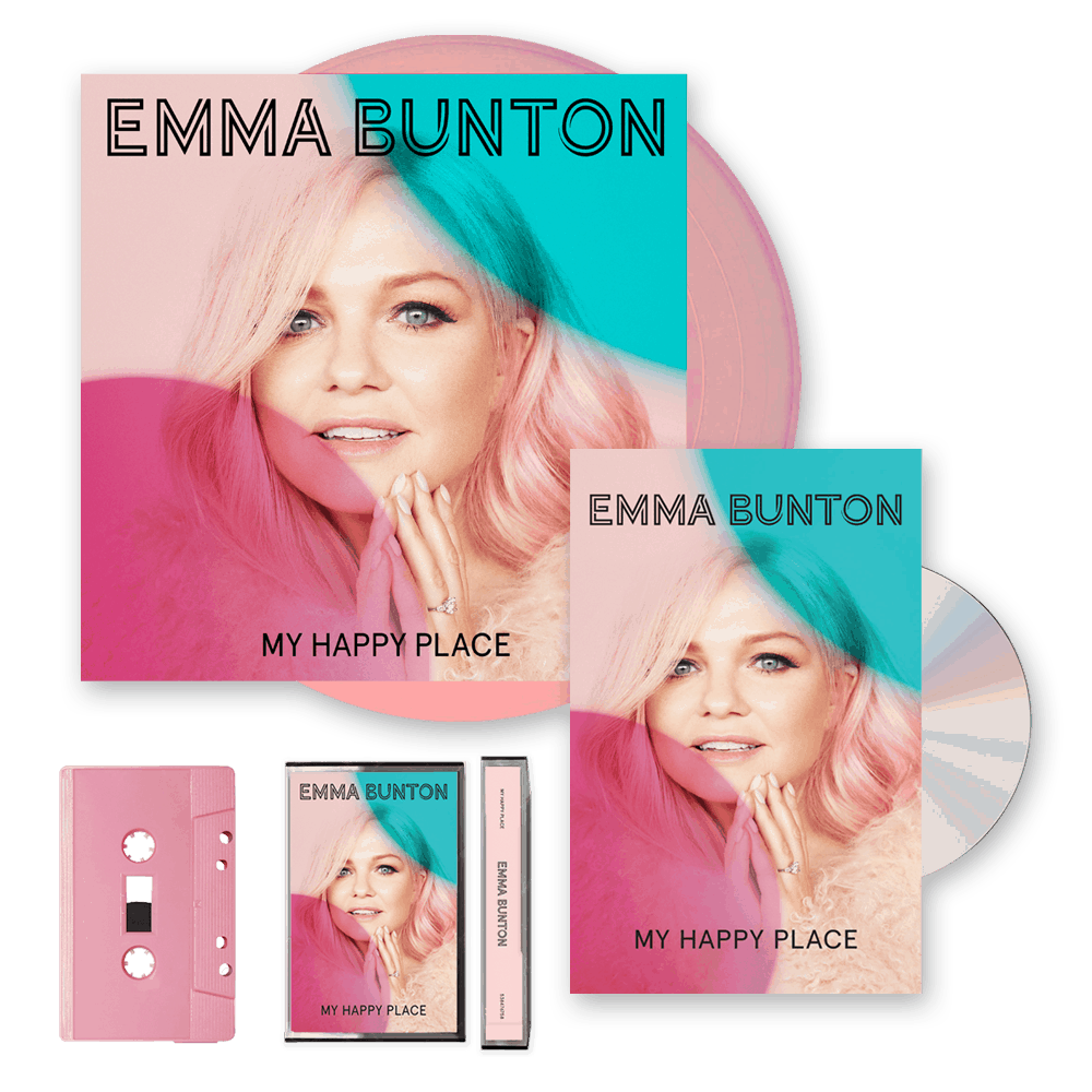 Buy Online Emma Bunton - My Happy Place Deluxe CD + Pink Cassette (Exclusive) + Pink Vinyl