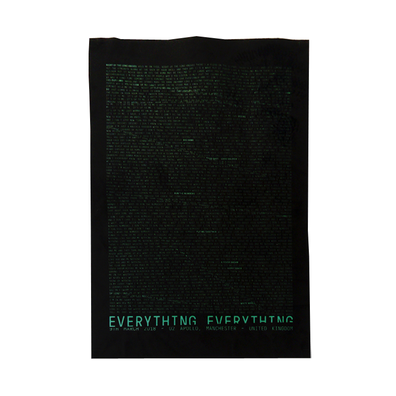 Buy Online Everything Everything - UK Tour Fabric Print