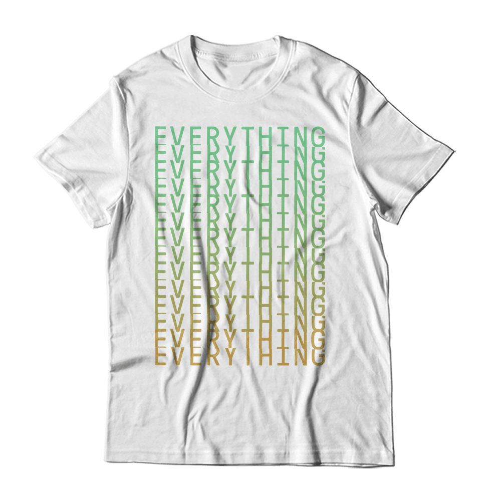 Buy Online Everything Everything - Stacked White T-Shirt