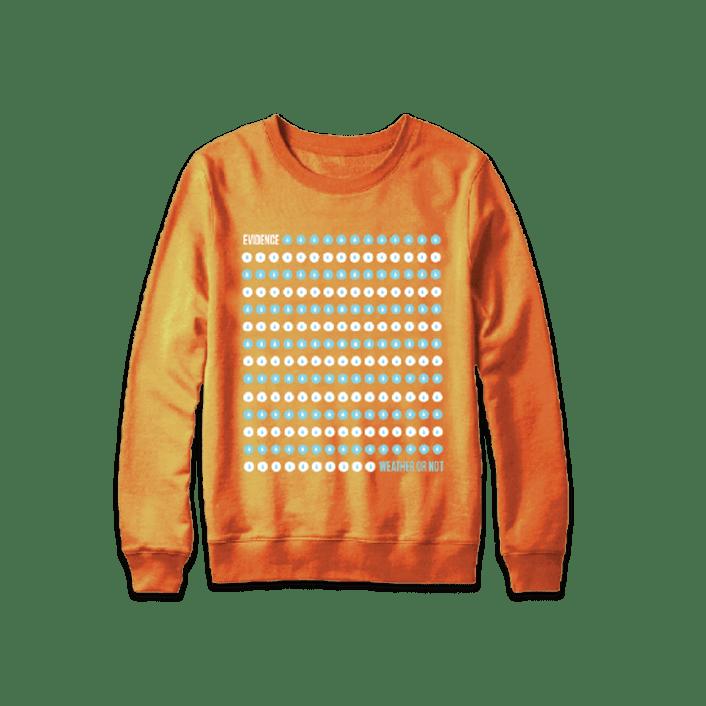Buy Online Evidence - Orange Dot Drop Sweatshirt