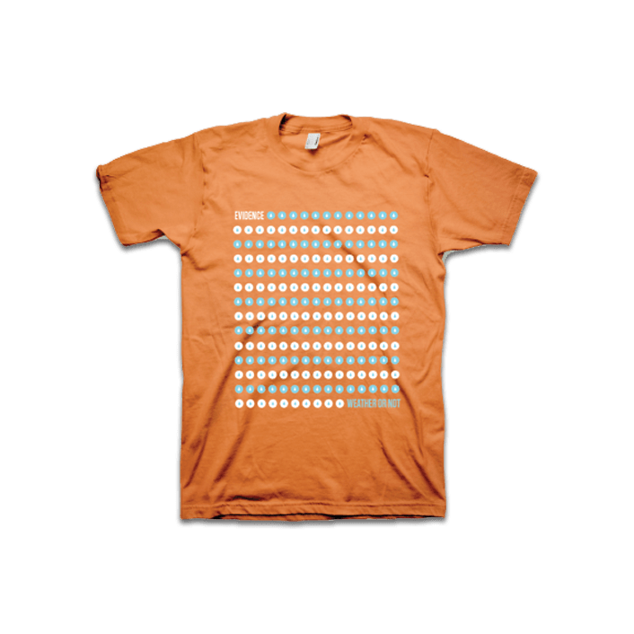 Buy Online Evidence - Orange Dot Drop T-Shirt