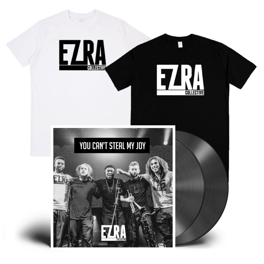 Buy Online Ezra Collective - You Can't Steal My Joy Double Vinyl + T-Shirt