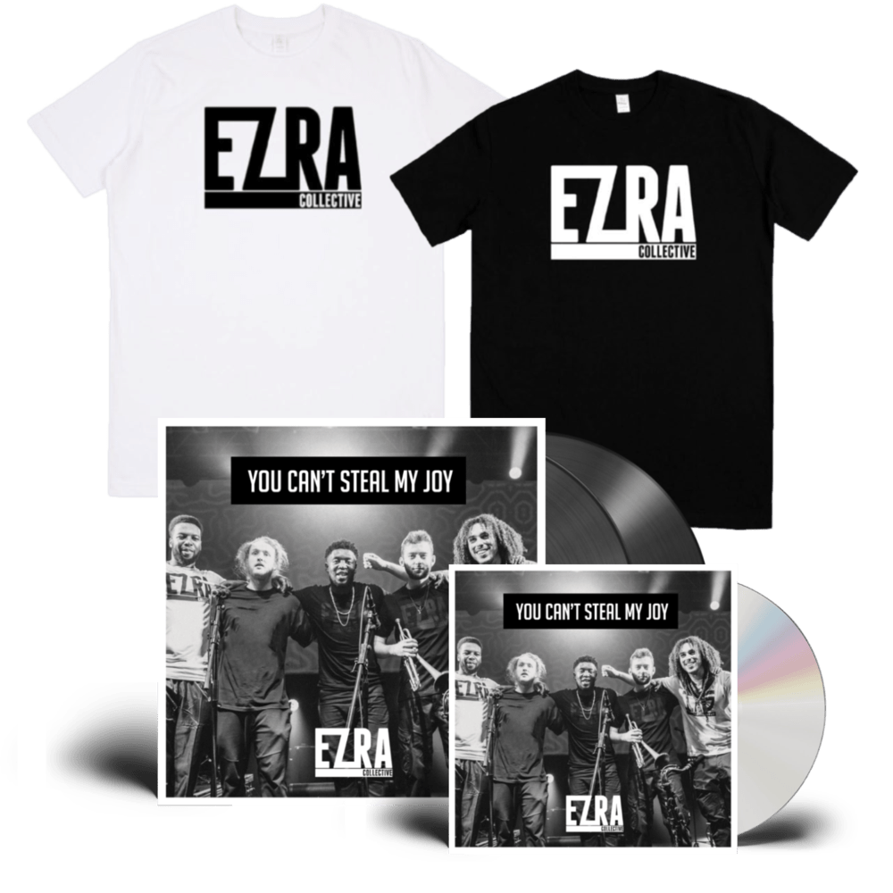 Buy Online Ezra Collective - You Can't Steal My Joy CD + Double Vinyl + T-Shirt