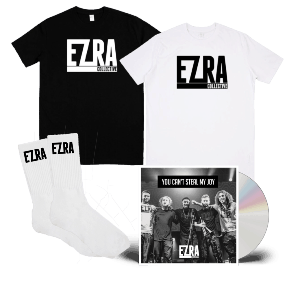 Buy Online Ezra Collective - You Can't Steal My Joy CD + T-Shirt + Socks