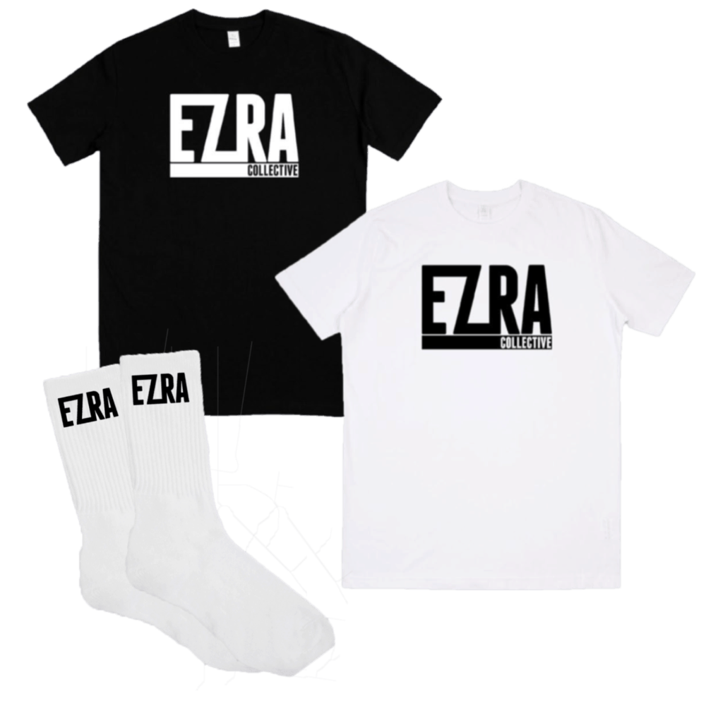 Buy Online Ezra Collective - You Can't Steal My Joy T-Shirt + Socks
