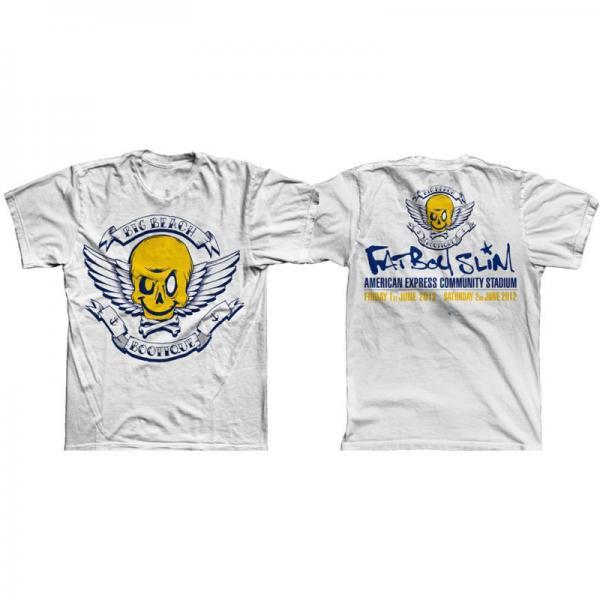Buy Online Fatboy Slim - Big Beach Bootique Exclusive White T-Shirt