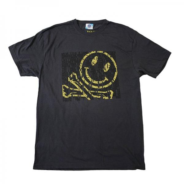 Buy Online Fatboy Slim - Smiley Face Charcoal T-Shirt