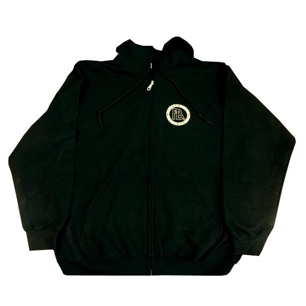 Buy Online Fuck Buttons - 10 Years... Black Zip Up Hooded Top