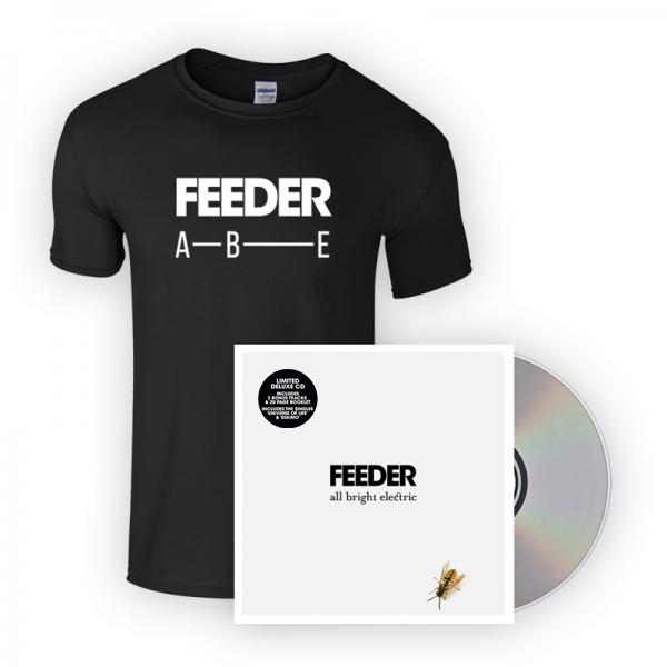 Buy Online Feeder - All Bright Electric Deluxe Book Edition Album + T-Shirt