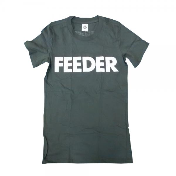 Buy Online Feeder - White Logo (with Neck Print) T-Shirt