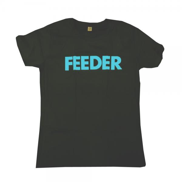Buy Online Feeder - Logo Blue Print T-Shirt (Wide Neck Style)