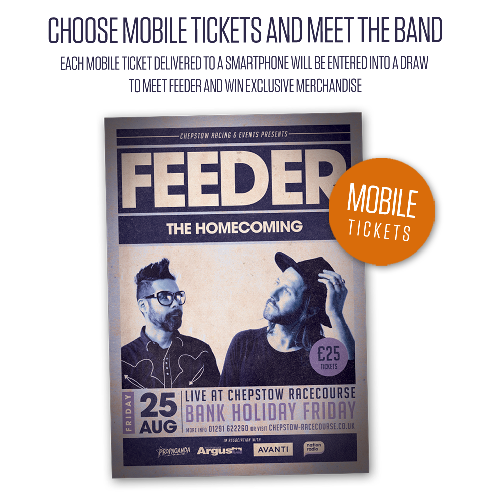 Feeder - The Homecoming: Live At Chepstow Racecourse Mobile Tickets