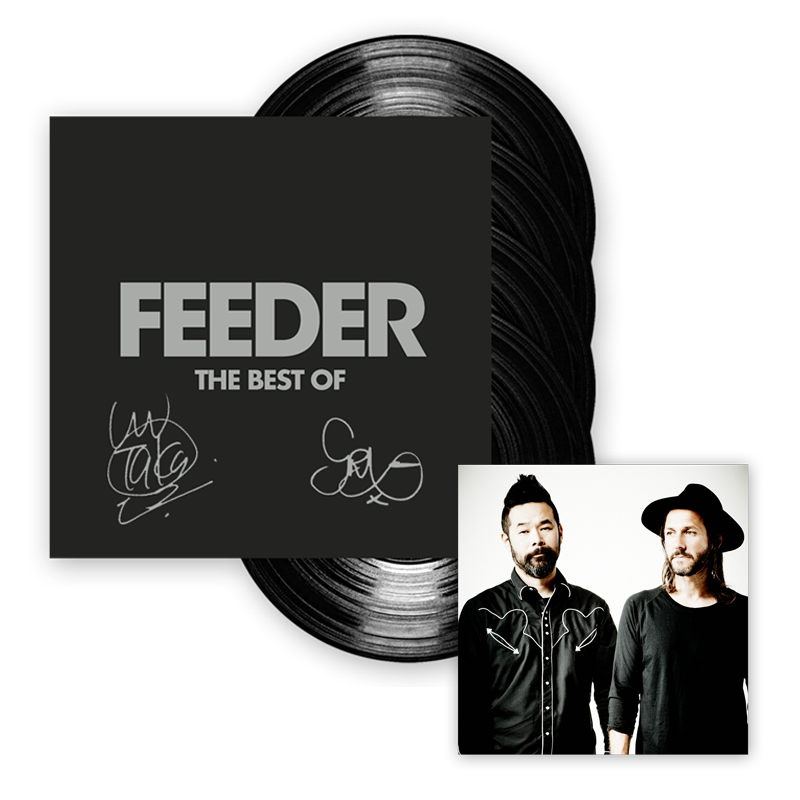 Buy Online Feeder - The Best Of 4LP Vinyl Hardback Book Album (Signed)